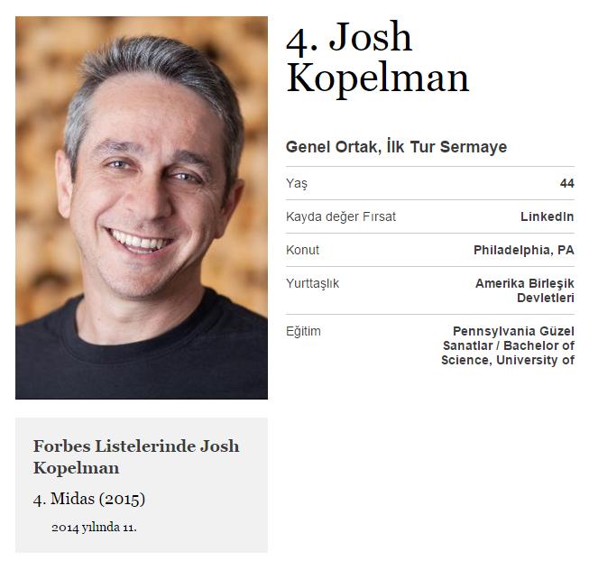 Uber'in yatırımcılarından olan First Round Capital ortaklarından, AltSchool, Boxed gibi girişimlerde yatırımları bulunuyor,